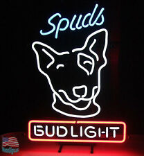 """Bud Light Spuds Mackenzie Beer Pub Bar Neon Sign 17""""x14"""" From USA"""