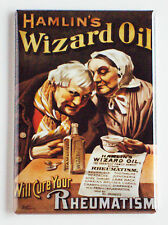 Wizard Oil FRIDGE MAGNET (2 x 3 inches) rheumatoid arthritis cure advertisement