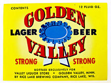 Valley Liquor Store by Rice Lake Brewing GOLDEN VALLEY LAGER STRONG label MN