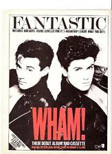 "GEORGE MICHAEL / WHAM Fantastic UK magazine ADVERT / mini Poster 11x8"""