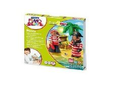 FIMO KIT FOR KIDS form & Play polimero Modellazione Forno Cuocere Argilla-Set Pirata