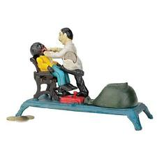 Pulling Teeth Dentist Die Cast Iron Mechanical Bank Black Americana