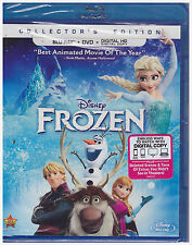 DISNEY FROZEN (Blu-ray/DVD, 2014, 2-Disc Set, Includes Digital Copy) NEW