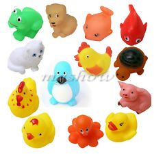 13 Different Squeaky Floating Animals/Ocean Rubber Baby Bath Toys Children Kids