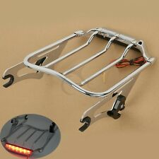 2 Up Air Wing Tail Light Luggage Rack For Harley Electra Street Glide Road king