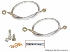 KAWASAKI 2007-2008 ZX 6R VORTEX FRONT BRAIDED STAINLESS STEEL BRAKE LINE KIT