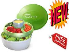 Fresh Food Storage Deluxe Salad Kit Stay Fit Container Kitchen Supplies Green