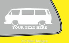 2x LOW YOUR TEXT VW T25T3 Caravelle Transporter outline Silhouette sticker  270