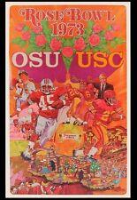 Vintage 1973 Original Rose Bowl Posters USC Trojans vs Ohio State Buckeyes NCAA