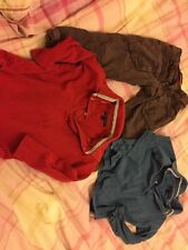 Boys Outfit 3 Years Brown Oilily Trousers Blue Red Tommy Hilfiger Long Sleeve