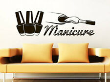Wall Decal Manicure Vinyl Sticker Decals Beauty Salon Nails Varnish Hands NV96