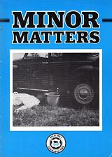 """MORRIS MINOR OWNERS CLUB MAGAZINE - """"MINOR MATTERS"""" (July/August 1989)"""