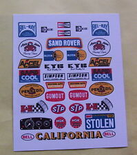 SAND ROVER  PRECUT CUSTOM TAMIYA HPI VINTAGE  STICKERS DECALS 1/10th RC CARS