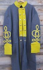 civil war confederate cavalry frock coat with 4 row braids 46