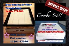 Combo set Engine & Cabin Air Filter PRIUS CT200H 17801-37020 OEM quality!!!