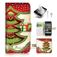 iPhone 5 5S Print Flip Wallet Case Cover! Christmas Tree P0485