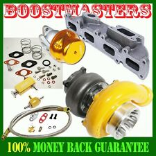 YELLOW GT35 Turbo Kits for 03-05 Dodge Neon SRT-4 Sedan 4-D Up to 500HP 5PCS