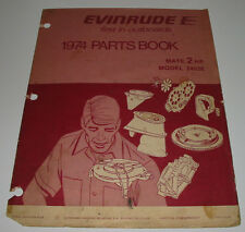 Parts Book Ersatzteilkatalog Evinrude Outboards Mate 2 HP Model 2402E Stand 1974