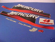 BRAND NEW, AUTHENTIC, 40HP MERCURY FACTORY DECAL SET