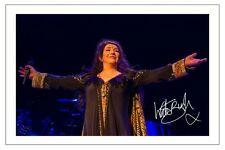 KATE BUSH SIGNED PHOTO PRINT AUTOGRAPH LIONHEART 50 WORDS FOR SNOW AERIAL