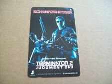 TERMINATOR 2 SCHWARZENEGGER ON USED PHONECARD FROM JAPAN (22ND FEB)