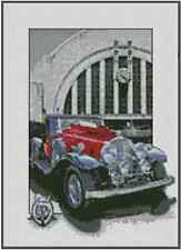 "Counted Cross Stitch ANTIQUE CAR ""1932 Stutz"" - COMPLETE KIT - No.34-102"