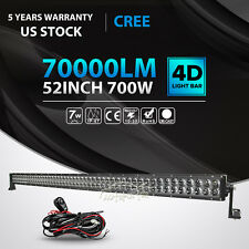 4D 700W 52inch LED Light Bar SPOT FLOOD Offroad Driving 4X4 SUV ATV Truck 50/54""