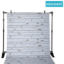 Neewer 5x7ft Polyester Wooden Photography Backdrop Background, White Washed Wood