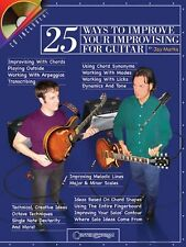 25 WAYS TO IMPROVISE YOUR IMPROVISING FOR GUITAR-MUSIC BOOK/CD-BRAND NEW ON SALE