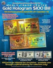WORLD TRADE CENTER Gold Hologram Card FREEDOM TOWER Tribute Certificate * BOGO *