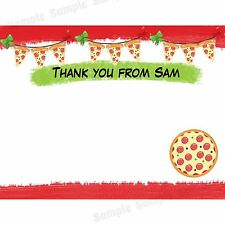 20 Personalized Birthday Thank You Cards -  Pizza Party Thank You Cards