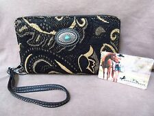 Native american style wallet made by Montana West - Evening Tapestry Pattern M26