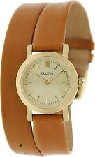 Bulova Women's Classic 97L135 Gold Leather Quartz Watch