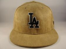 MLB Los Angeles Dodgers New Era 59FIFTY Fitted Hat Cap Size 7 3/4 Tan