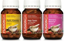 FUSION 1x HAIR TONIC 60c + 1x MULTIVITAMIN 60t  + 1x WOMEN'S BALANCE 60t