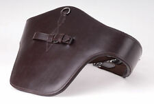 NEW Windsor Equestrian Leather Padded Stud Guard Jumping Girth Black/Havana