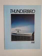 1981 FORD THUNDERBIRD VERY NICE ORIGINAL DEALERSHIP SALES BROCHURE