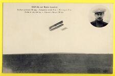 cpa AVIATION Le Pilote DUVAL sur BIPLAN CAUDRON Vitesse à l'Heure 98 km Aviator