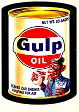 "Wacky Packages Gulp Oil "" Gulf Oil "" Fridge Magnet 4""x6"""