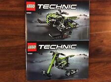 New Lego Instruction Manual ONLY Technic Snowmobile Snowbike 2 Books Set 42021