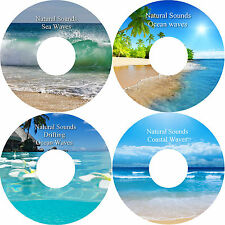 Natural Sounds Sea Coastal Ocean & Drifting Ocean Waves 4 CD Relaxation Set