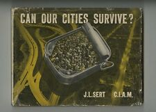 1942 J. L. Sert + CIAM: CAN OUR CITIES SURVIVE? 1st w/ Herbert Bayer Dust Jacket