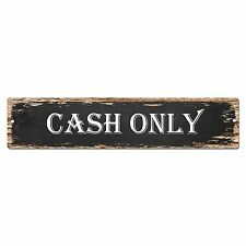 SP0023 CASH ONLY Street Sign Bar Store Shop Pub Cafe Home Room Chic Decor