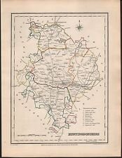 1848 ANTIQUE COUNTY MAP -HUNTINGDONSHIRE KIMBOLTON RAMSEY ST IVES CHESTERTON