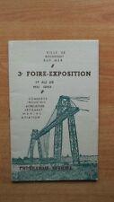 VILLE DE ROCHEFORT SUR MER : 3è FOIRE-EXPOSITION 17 au 25 mai 1953 PROG