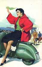 Riproduzione Cartolina Pubblicitaria 1950 Vespa Piaggio