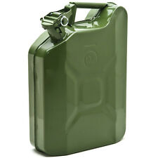 Jerry Can 2 1/2 Gallon 10L Gas Fuel Army NATO Military Style Metal Green Prepper
