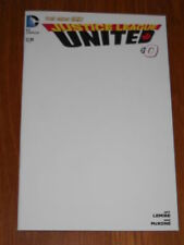 JUSTICE LEAGUE UNITED #0 NM (9.4) DC COMICS NEW 52 BLANK VARIANT JUNE 2014