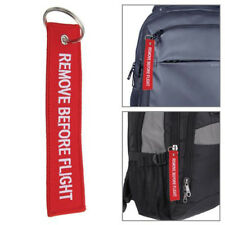 Cool Remove Before Flight Embroidered Canvas Specil Luggage Tag Label Key Chain
