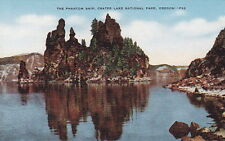 The Phantom Ship, Crater Lake National Park, OR, Linen  Postcard